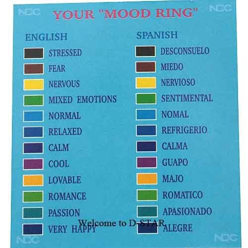 Bague d'humeur couleur