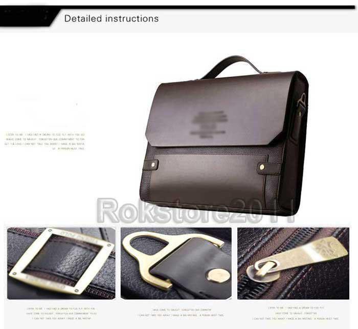 Authentic Moonar Men'S Leather Shoulder Messenger Briefcase Bag Bookbag 5