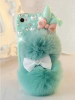 Чехол для для мобильных телефонов New desing Plush rabbit cell-phone case for Iphone 4/4S/5