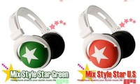Наушники MOQ: 1pcs retail 3.5mm mix style headphones for mp3 mp4 notebook/ fashion folding headphones