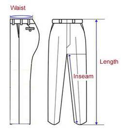 Внутренний шов брюк с доставкой