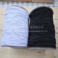 Веревка для ювелирных изделий 1.5mm Black round Stretch Elastic Cord, 100M/Bobbin
