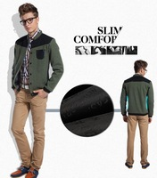 Мужская ветровка Men's Jacket Autumn&Winter Linen Overcoat Stand Collar Fashion 2013 M-XXL Whole Sale MWJ201