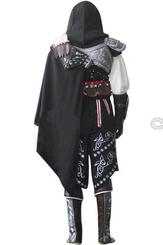 hot assassin creed ii ezio 2 anime cosplay kost m schwarz. Black Bedroom Furniture Sets. Home Design Ideas