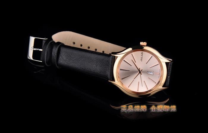 Авто Дата мужские Часы Япония Кварцевые Часы Мода Платье Браслет Кожа Бизнес Часы Мальчик Подарок На День Рождения Юлий Box 632