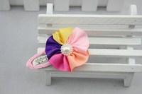Детский аксессуар для волос New Fashion baby girl Hair Accessories Pearl colorful ribbon Flower hairpins children hair jewelry