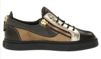Женские кеды 2013 new GZ giuseppe designer brand shoes leather zipper women leisure multi color unisex sneakers