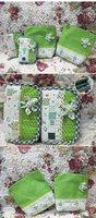 FREE SHIPPING 12PCS 45cm*50cm DIY handmade patchwork fabric small cloth bundle purple flower 100% cotton fabric B201319