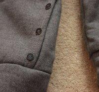 моды осень и зима вскользь утолщаются женщин балахон Пальто Верхняя одежда куртки