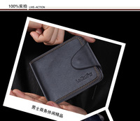 Кошелек Fashion Good Quality Men Genuine Leather Wallets Male Short Purses Card Holder 3 colors