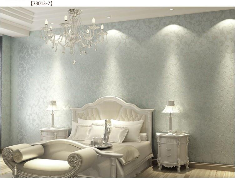 Victorian damask modern wallpaper wall paper roll living for Glitter wallpaper for bedroom