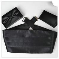 Женские воротнички и галстуки Fashion Colorful solid High quality bow tie set men bowtie waist band pocket square bow gift box factory direct