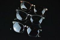 Женские солнцезащитные очки 2012European and American the wind vintage classic retro men and women metal half frame sunglasses sunglasses 1pc