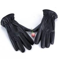 Мужские перчатки Mens Leather Gloves Bike Bicycle Sport Mitten Gloves Riding Drving Warm Wear