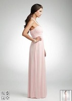 Платье для подружки невесты Attractive strapless floor length Bridesmaid dress /Prom Gown size &color NO209