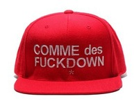 Женская бейсболка HOT SELL Hats! COMME DES FUCKDOWN snapback caps, adjustable baseball hats, 4 colors to choose