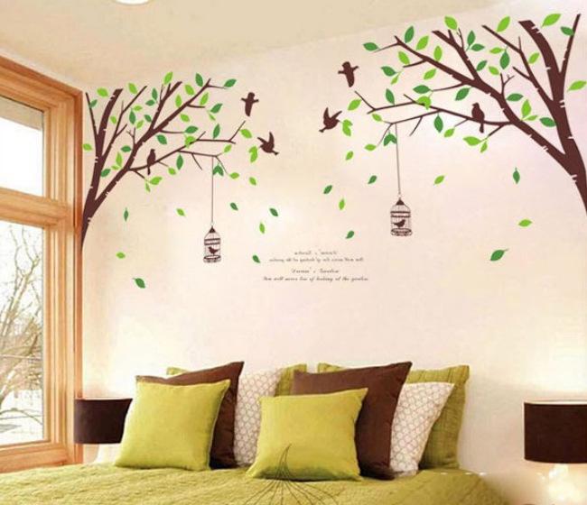 Arboles pintadas en la pared imagui - Arboles en la pared ...