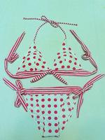 new arrival vs original single bikini swimwear women 2013 fashion Dot Halter girls Bikini good qualituy  push up beachsuit
