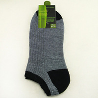 Free shipping Bamboo fiber Men's socks,Cuff boat sock for men wholesale 5 pairs/10 pairs=1pack for size 39-43