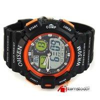 Наручные часы NEW Orange Chronograph Fashion Sports Mens Army Multifunction Dual Display Rubber Band Watch IW2963