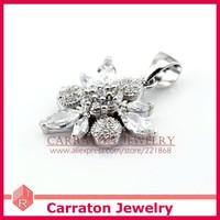 Ювелирный набор Carraton SSQD9001 Flower Shaped Women 925 Sterling Silver Jewellery Sets CZ Wedding Set
