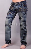 Мужские джинсы Jeansian Brand Mens Designer Jeans Pants Trousers Denim Blue J009 W30 32 34 36 38
