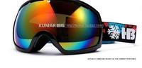 Лыжные очки Shock Resistance Double-dlayer Skiing Goggles Increasing Frame Polarization Anti-fog UV Sphere Ski Glasses