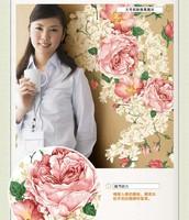 Стикеры для стен DIY Removable Art Vinyl Wall Stickers Decor Mural Decal Measurement of height Children room peony flower AY927