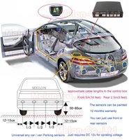 Система помощи при парковке 8 Car LCD Reverse Parking Sensors 8 Front 4 Rear Buzzer
