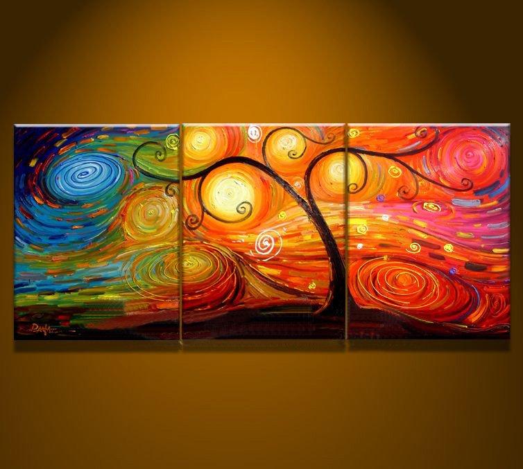 Oil Tree Paintings Oil Painting Tree Art