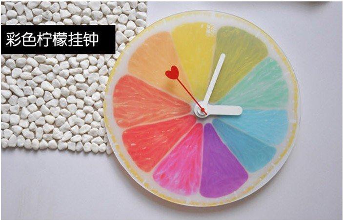 Настенные часы lemon wall clock creative DIY orange wall clock creative cool gift в интернет-магазине Сena24.ru