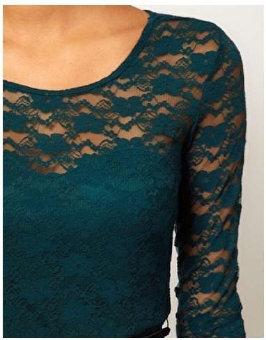 Aliexpress.com : Buy New Women Spring Hot Lace Dress Wine Red Green ...