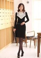 Женские блузки и Рубашки New Women Slim Embroidered lace Shirt, Long Sleeve Female Blouses, Plus SizeS M L XL 2XL 3XL 4XL