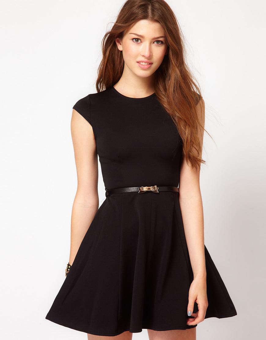 Летнее платье черное