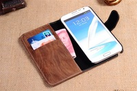 Чехол для для мобильных телефонов 2 in 1 Retro Wood Design Wallet Leather Bag Case Cover Pouch for Galaxy Note2 N7100 Screen Protector - 1 piece
