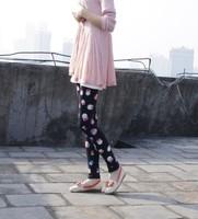 Женские брюки L153 Colorful Fashion Painting Owl Pattern Print Ninth Leggings For Women High Elasticity Skinny Pants