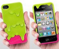 Чехол для для мобильных телефонов Melt 3D Ice Cream Hard Back Case Cover for iPhone 4 4G 4S + Screen Protector