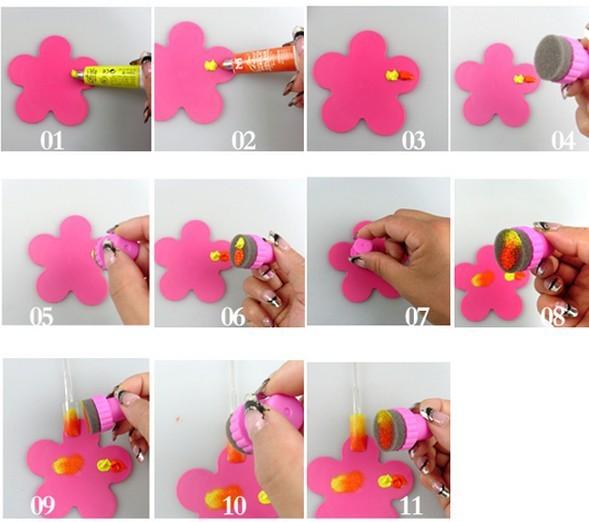Hotsale Sponge Nail Art Kit For Nail Stamp Tool Nail Art Paint