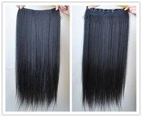 Волосы для наращивания Fashion 22' 7Colors Girl's 5Clips Straight Hairpiece Slice Hair Extensions PP18