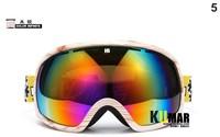 Shock Resistance Double-dlayer Skiing Goggles Increasing Frame Polarization Anti-fog UV Sphere Ski Glasses