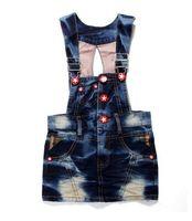 Платье для девочек 5pcs new girl's minnie cartoon suspender dress children denim dresses girls crystal summer clothes