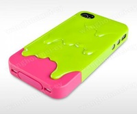 Чехол для для мобильных телефонов Melt 3D Ice Cream Hard Back Case Cover for iPhone 4 4G 4S + Screen Protector