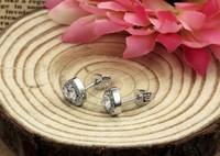 ювелирных изделий меди покрытием платины женщин серьги обороны специальные сердце форму 925 серебряные стад dt-de009