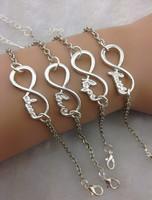 Ювелирное изделие 4pcs silver infinity bracelet, dream healthy wish bracelet, love bracelet, hope bracelet1864 Min order 10