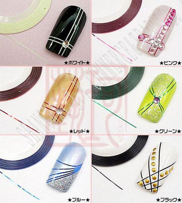 Дизайн ногтей полосками из фольги