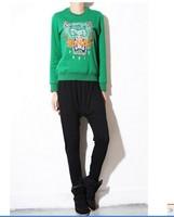 Женские толстовки и Кофты fall and winter women's the new tiger head long-sleeved short head sweater