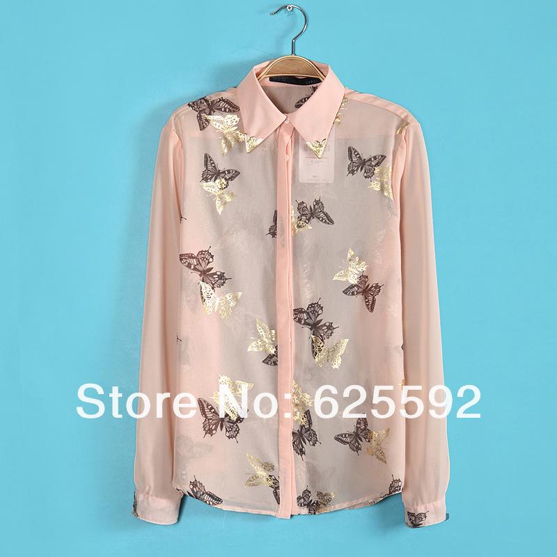 Блузка С Бабочками