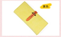 2012 leather wallet vintage candy colors popular women's long wallet ladies purse card bags handbags free shipping