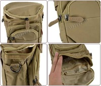 Маленькая сумочка 5pcs/lot Men's Waist Bag nylon Pack Water Bottle Shoulder Bags Sports Bags Cross-body Khaki, Gray 7676