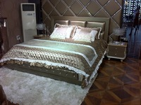 Antique King Size Leather Bed